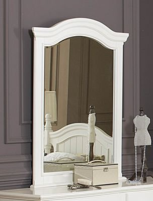 Homelegance Clementine Beveled Mirror In Antique White by Homelegance