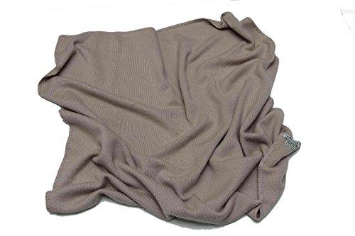 100% Cashmere Baby Blanket, 4 Ply Mongolian 26/2 Yarn Cashmere, Hand-Knitted, Brown © Moksha Cashmere by Moksha Cashmere