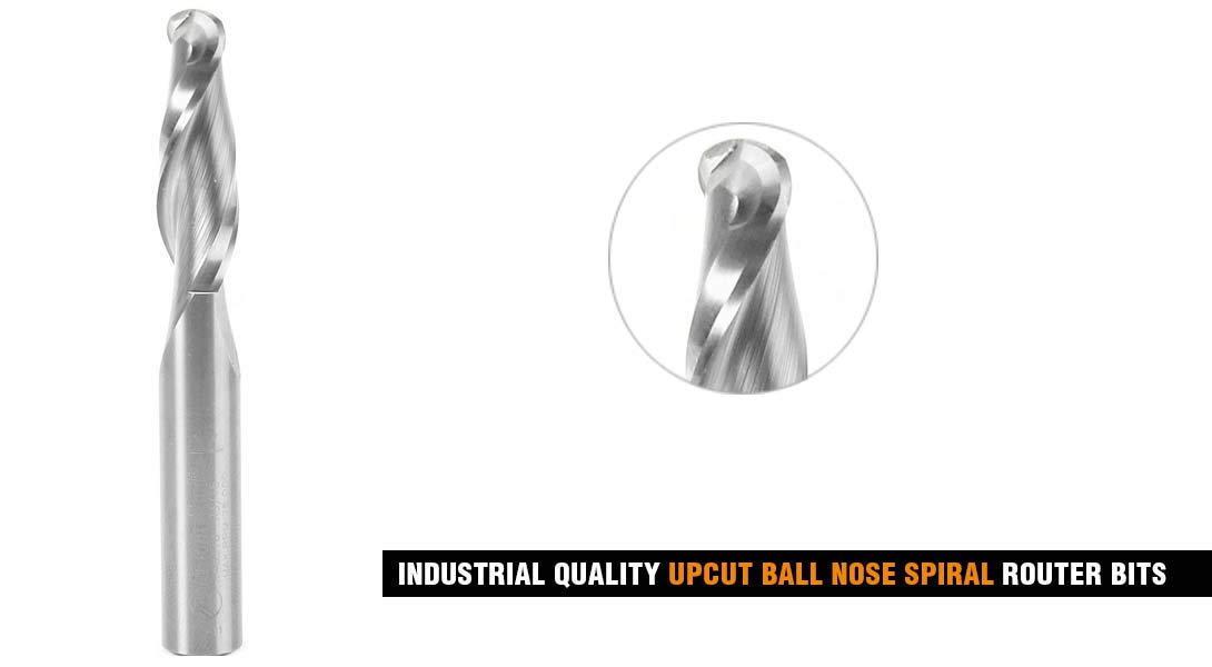 46378 Solid Carbide Up-Cut Ball Nose Spiral 3//8 Dia x 1-1//4 x 3//8 Shank Route Amana Tool