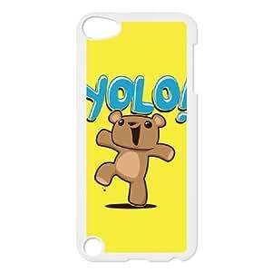 iPod Touch 5 Case White Yolo Bear BNY_6890475