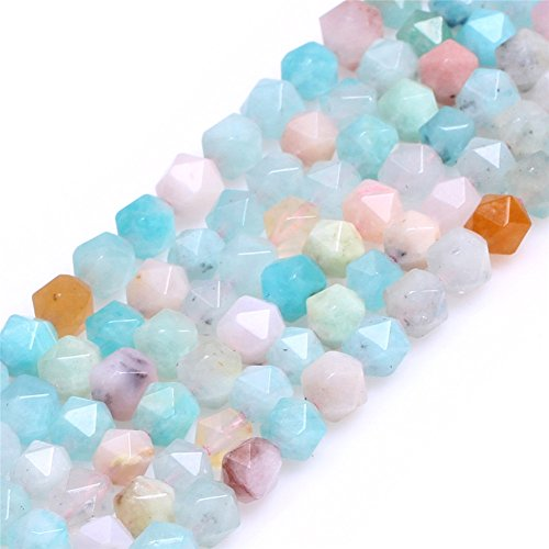 Multicolored Peru Amazonite Beads for Jewelry Making Natural Gemstone Semi Precious AAA Grade 6mm Faceted 15