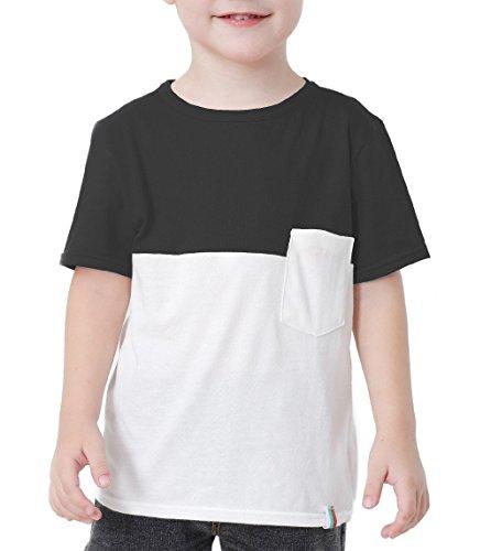 BesserBay Toddler Baseball Jersey Contrast 3/4 Sleeves Tee Raglan Soft T Shirts