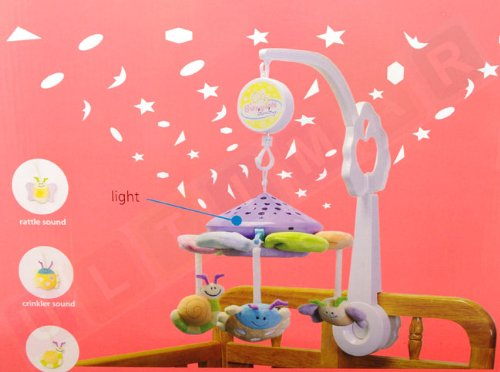 Licht Projector Baby : Ultimar projection mobile mobile with projector and music box
