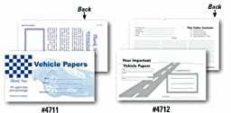 Vehicle Document Wallets-#4711 (50/Pack)