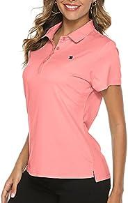 YSENTO Women Golf Shirts Dry Fit Short Sleeve Moisture Wicking Polo Shirts