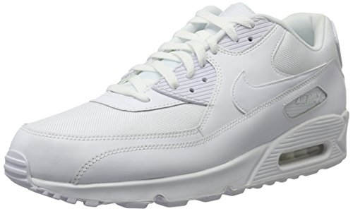 Nike Men's Air Max 90 Essential White/White/White/White Running Shoe 13 Men US (Nike Air Max 90 Hyperfuse compare prices)