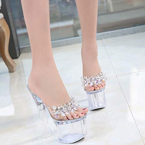 JYshoes JYshoes Mules Mules Femme Femme silber Strass JYshoes Strass silber pxqaPng