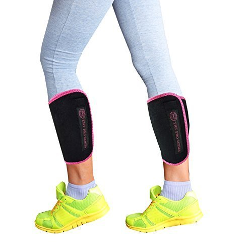 TNT Pro Series Leg Wraps for Slimmer Calves - Calf Compression Sleeve 2 Piece Set - One Size Fits All ()