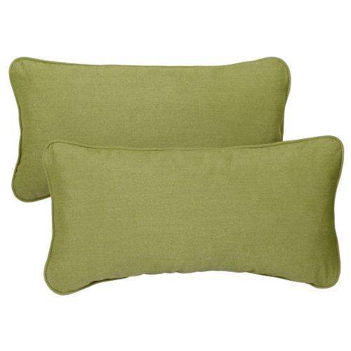 ella Indoor/Outdoor 13 by 20-inch Corded Pillow, Spectrum Cilantro, Set of 2 ()