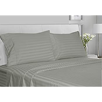 chateau home collection luxury 100 supima cotton 500 thread count ultra soft damask stripe sheet set mega sale lowest prices king moonstone