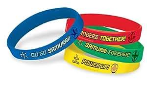 Power Rangers Samurai Rubber Bracelets (4) (Multi-colored) Party Accessory