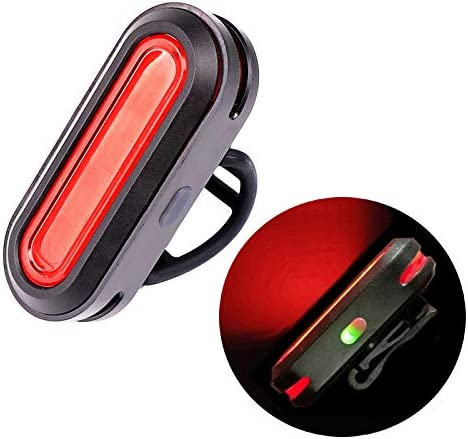 Eskiee COB Tail Light bicycle Light USB Rechargeable bike Tail Light, Cycling Safety Flashlight, red light 6 modes Bike Taillights, IPX4 waterproof