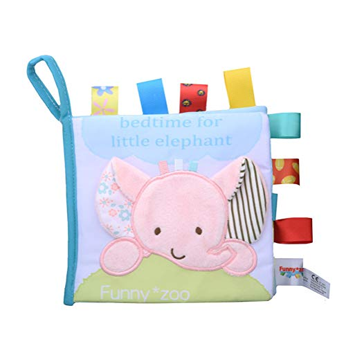 SWQ Animal Stereo Cloth Book Early Education Tearing Rotten Label Cloth Book Label Rattle Toy ()