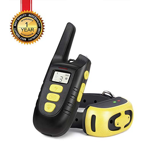 (Fypet Shock Collar with Remote,2000ft/IP67 Waterproof Electric Shock/Vibration/Beep Control Dog Training Collar for Small Medium Large)