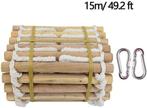 Escalada Antideslizante de 10 m Escaleras de evacuación, Escalera de Seguridad de Madera Maciza Cuerda Cuerda de Nylon Rescate de Emergencia, Implementación fácil Uso Tienda compacta,15m/49.2ft: Amazon.es: Hogar