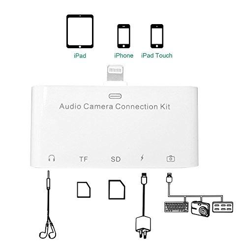 Lightning 5 in 1 Multi-Port Adapter Camera OTG / TF/ SD C...