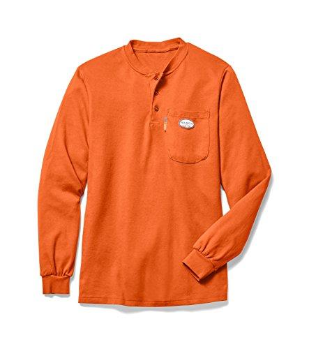 Rasco FR Men's Orange Henley T-Shirt