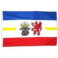 MM Mecklenburg-Vorpommern Flagge/Fahne, 150 x 90 cm, wetterfest, mehrfarbig, 16195