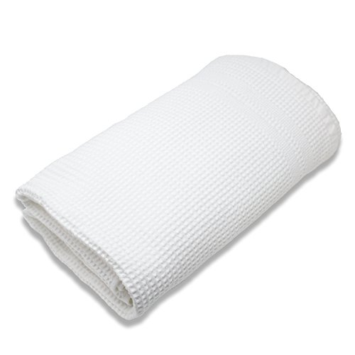 - Gilden Tree 100% Natural Cotton Classic Waffle Weave Bath Sheet (White)