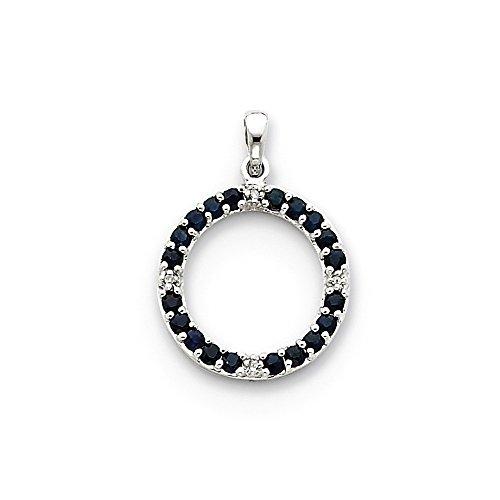 re & Diamond Circle Pendant (Color I-J, Clarity I1-I2) (Blue Diamond Circle Pendant)