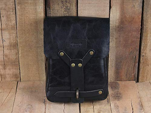 Leather Thigh Bag Classic Black ()