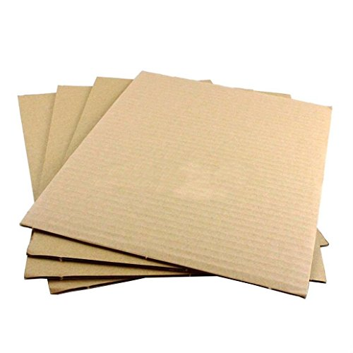 "NEW 100 8.5x11 Corrugated Cardboard Pads Inserts Sheet 32 ECT 1/8"" Thick 8 1/2 x 11"