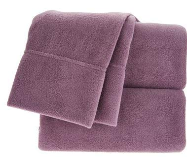 Berkshire Blanket Polarfleece Sheet Set (King, Plum)