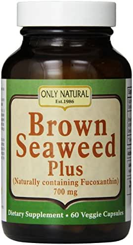 Only Natural Nutritional Veggie Capsules, Brown Seaweed Plus, 700 mg, 60 Count