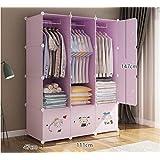 Yigui Portable Clothes Closet Wardrobe Bedroom Armoire Dresser Cube Storage Organizer,Space Saving,Ideal Storage Organizer,12Doors + 3 Grid + 3Hanging Sections