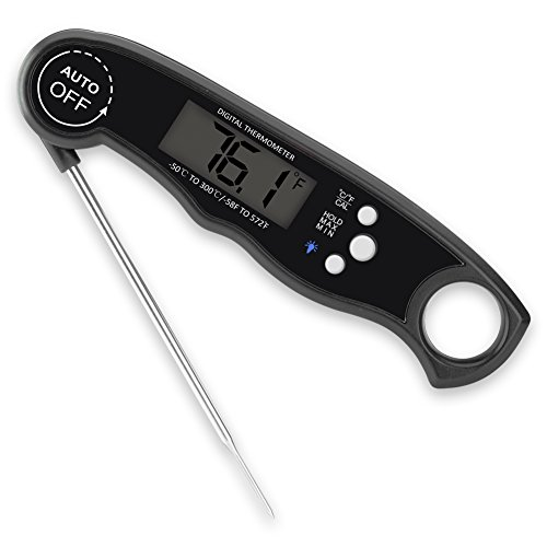 Waterproof Digital Meat ThermometerSuper Fast Instant Read Thermometer with Calibration and Backlight functions Food Thermometer for Kitchen BBQ and Outdoor Cooking