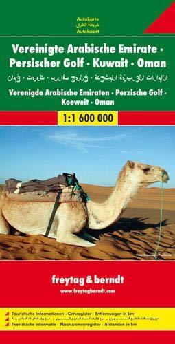 United Arab Emirates/Persian Gulf/Kuwait/Oman (Freytag & Berndt Road Map)
