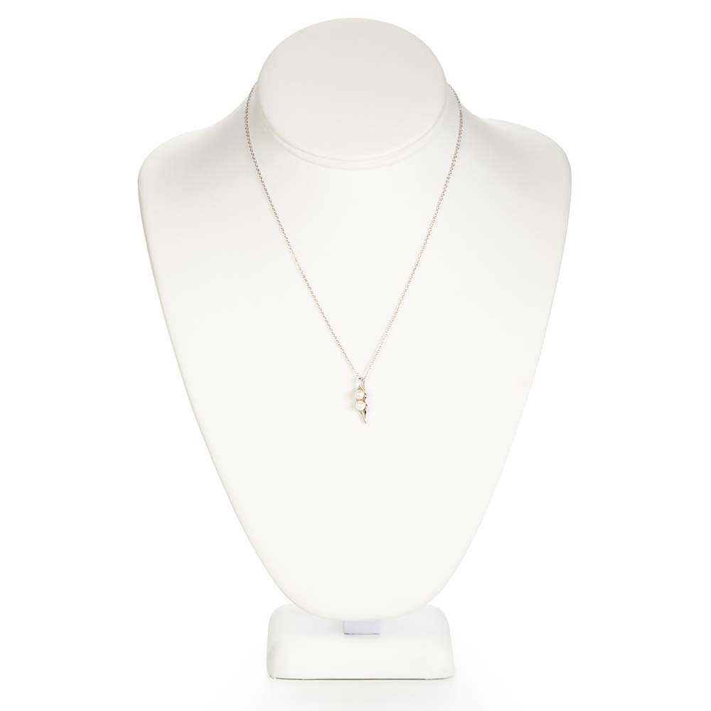 Sterling Silver Two Peas in a Pod Necklace, 16 Inches