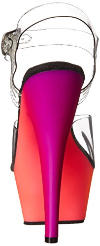 Neon Multi Klar Pleaser Plattform Nmc C Kjole Rbow208uv Kvinners Sandal fg8wHp