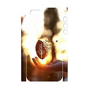 Custom iPhone 5,5S Case, Zyoux DIY New Fashion 3D iPhone 5,5S Cover Case - Tree leaf