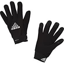 adidas Performance Field Player Fleece Glove, Black/White, Size 12