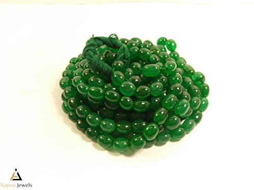 1 Strand Natural Emerald Quartz Loose Beads Strand, 8x11mm-7x8mm 8 Inch Smooth Oval Emerald Quartz Beads, Emerald Quartz Beads Necklace, Jewelry Making Emerald Quartz Beads, Knotted Emerald Necklace