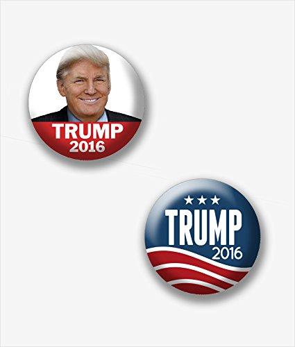 Marsh-Enterprises-2-Donald-Trump-Campaign-Mini-1-Buttons-Set-D-Lapel-Pins-Assorted-Designs