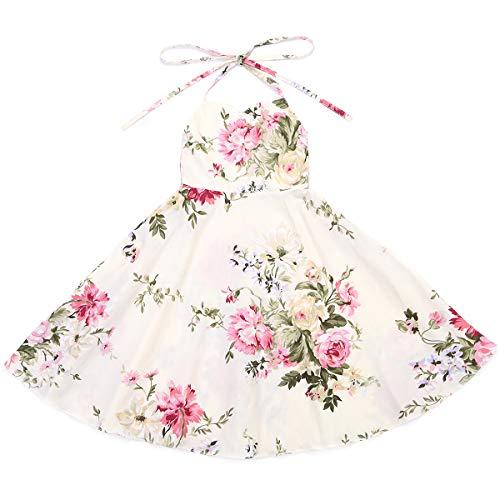 Flofallzique Floral Girls Dress Vintage Toddler Dress Birthday