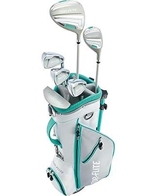 Top-Flite 2019 Girls 9-Piece Complete Golf Set w/Bag Teal Left Hand Ages 9-12