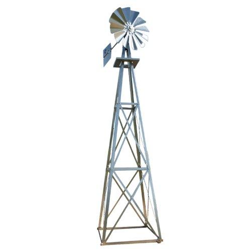 outdoor water solutions 12 foot galvanized backyard windmill - Decorative Windmills