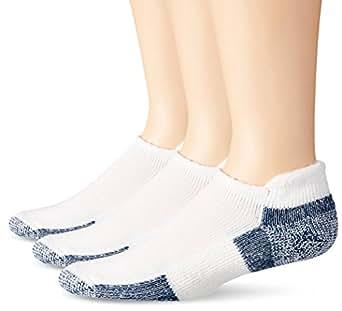 Thorlos Unisex Running Thick Padded Roll Top Socks | J, White/Navy, Pack of 3, Large Men Shoe Size 9-12.5/Women's Shoe Size 10.5-13