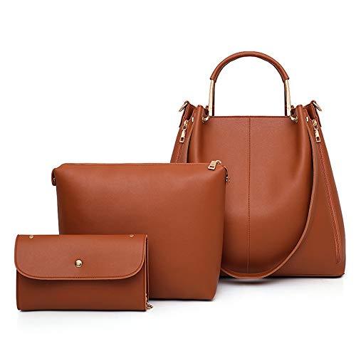 Mother Handbag And Three Bag Pu Unique Jtsyhse Childnero oras marrone Slant Fashion Bag hsQdxrtC