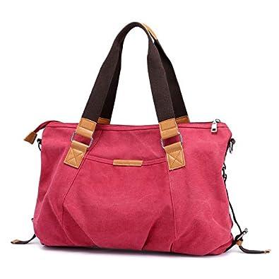 de566aad179e Amazon.com  Cloth Shake Fashion Woman Canvas Bag For Lady Casual Shoulder  Bag Top Sale Female Messenger Bag Bolso Handbag Hobos Bag Color Peach Red   Shoes