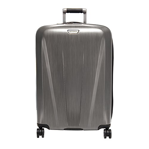 Ricardo Beverly Hills Rio Dell 26-inch 4-Wheel Spinner Luggage, Brushed Silver