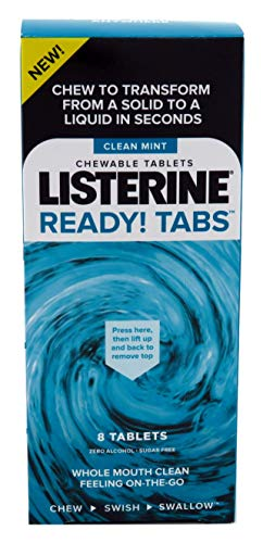 Listerine Ready Tabs Chewable Clean Mints 8 Count (6 Packs)