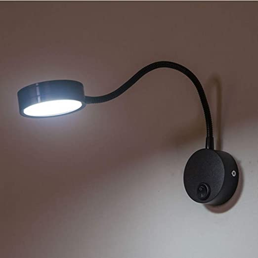 Mkxiaowei Moderno LED Pared lámpara 5W Flexible baño Espejo ...