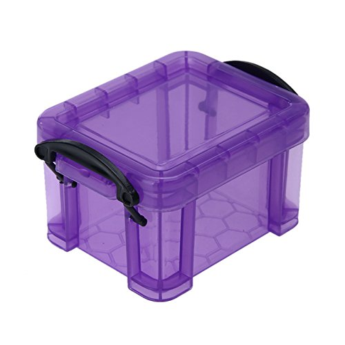 RedSonics(TM) Candy Color Home Furnishing Mini Lock Box Table Storage Box Earrings Jewelry Organizer Plastic Storage Case Portable Organizer[ Purple ] (Generator Storage Box)