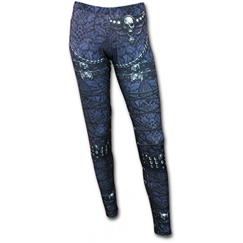 Spiral - Womens - WAISTED CORSET - Allover Comfy Fit Leggings Black - L