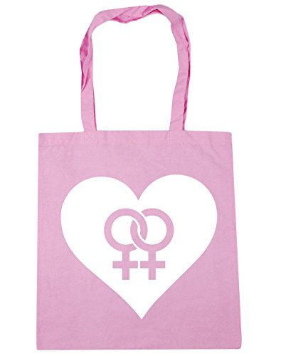 litres 10 Shopping HippoWarehouse Beach Lesbian Tote Gym Pink x38cm 42cm Bag Heart Classic qSgz6wtv