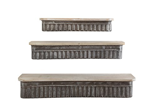 Cheap Creative Co-op DA5841 Set of 3 Metal & Wood Wall Shelves